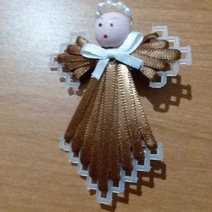 Brown Angel Pin